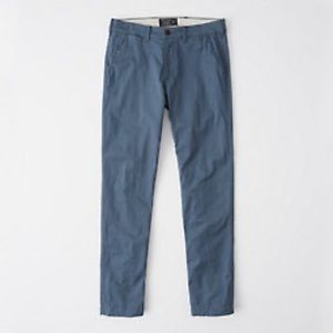Men's Blue Abercrombie Chinos